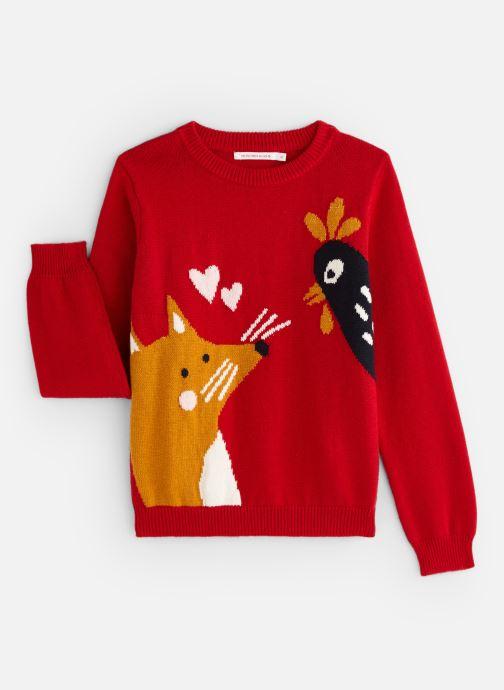 Vêtements Monoprix Kids Pull Fox Rouge vue détail/paire