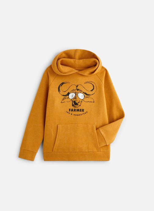 Vêtements Monoprix Kids Sweat capuche Ari Orange vue détail/paire