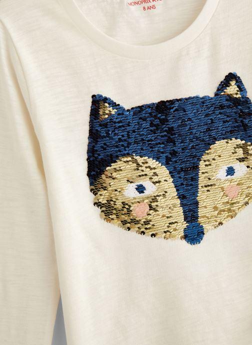 Vêtements Monoprix Kids T-shirt manches longues Magic Fox Blanc vue portées chaussures