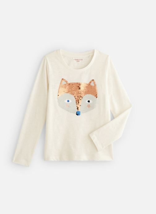 Vêtements Monoprix Kids T-shirt manches longues Magic Fox Blanc vue détail/paire