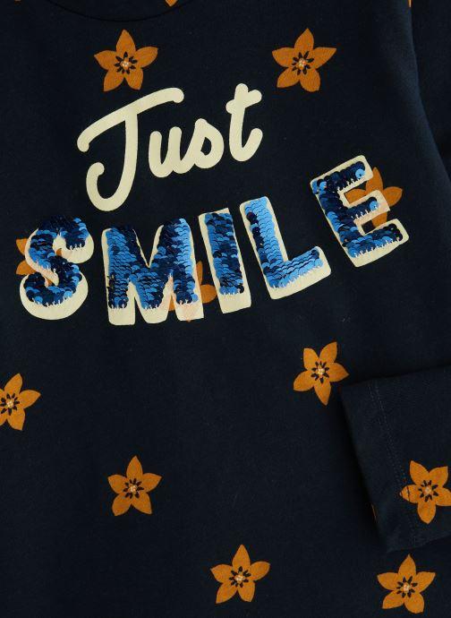 Vêtements Monoprix Kids T-shirt manches longues Magic Smile Bleu vue portées chaussures