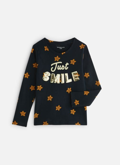 Kleding Monoprix Kids T-shirt manches longues Magic Smile Blauw detail