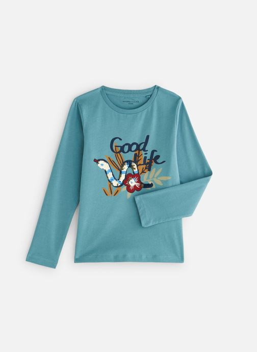Kleding Monoprix Kids T-shirt manches longues Snake Blauw detail