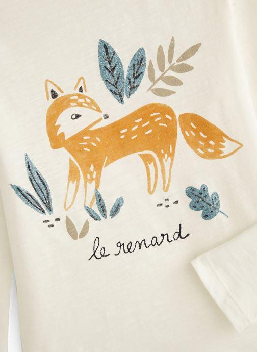 Kleding Monoprix Kids T-shirt Renard Wit model