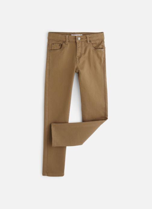 Tøj Monoprix Kids Pantalon Slim Ari Beige detaljeret billede af skoene