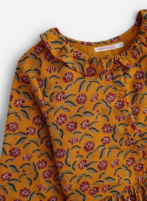 Vêtements Monoprix Kids Robe Twill fleurs Marron vue portées chaussures