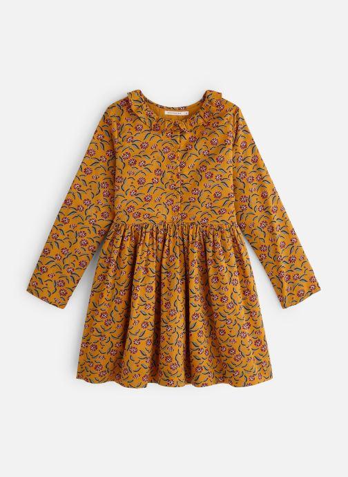 Kleding Monoprix Kids Robe Twill fleurs Bruin detail