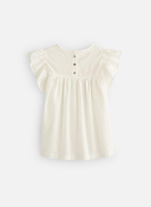 Vêtements Monoprix Kids Chemisiers Fille Blanc vue bas / vue portée sac
