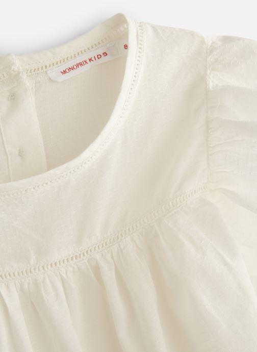 Vêtements Monoprix Kids Chemisiers Fille Blanc vue portées chaussures