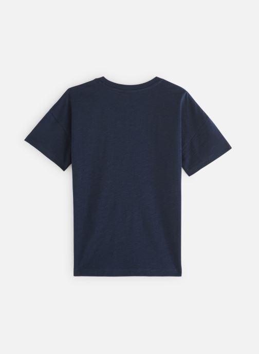 Vêtements Monoprix Kids T-shirt manches courtes Badge Bleu vue bas / vue portée sac