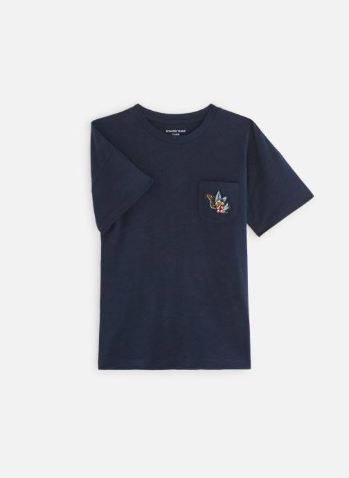 Kleding Monoprix Kids T-shirt manches courtes Badge Blauw detail