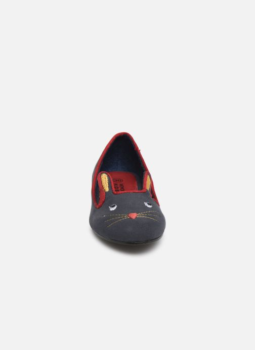 Ballerines Monoprix Kids Ballerine Animal Bleu vue portées chaussures