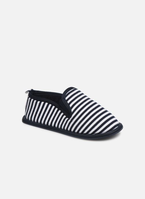Slippers Monoprix Kids Charentaise rayé Blue detailed view/ Pair view