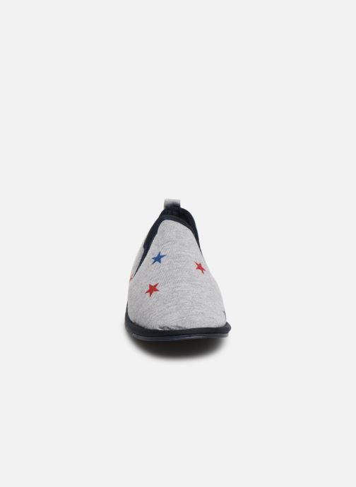 Slippers Monoprix Kids Charentaise étoile Grey model view