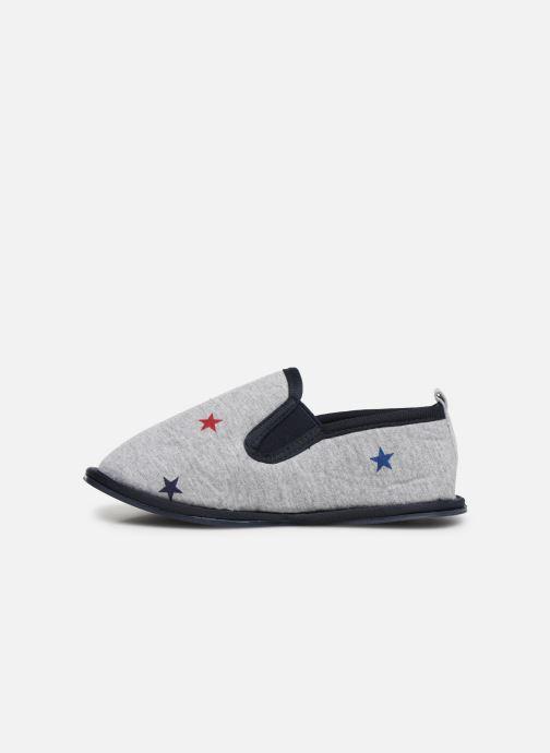 Slippers Monoprix Kids Charentaise étoile Grey front view