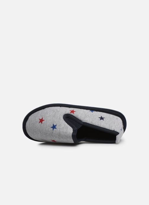 Slippers Monoprix Kids Charentaise étoile Grey view from the left