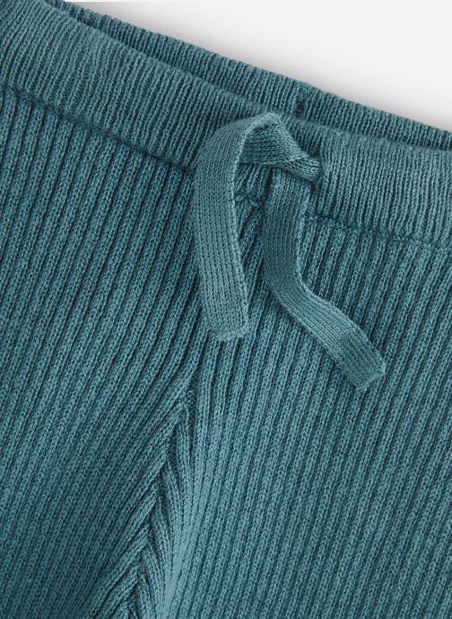 Vêtements Bout'Chou Legging tricot cotes Bleu vue portées chaussures