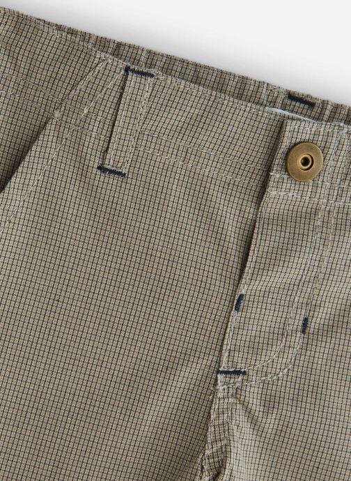 Vêtements Bout'Chou Pantalon Slack carreaux Beige vue portées chaussures