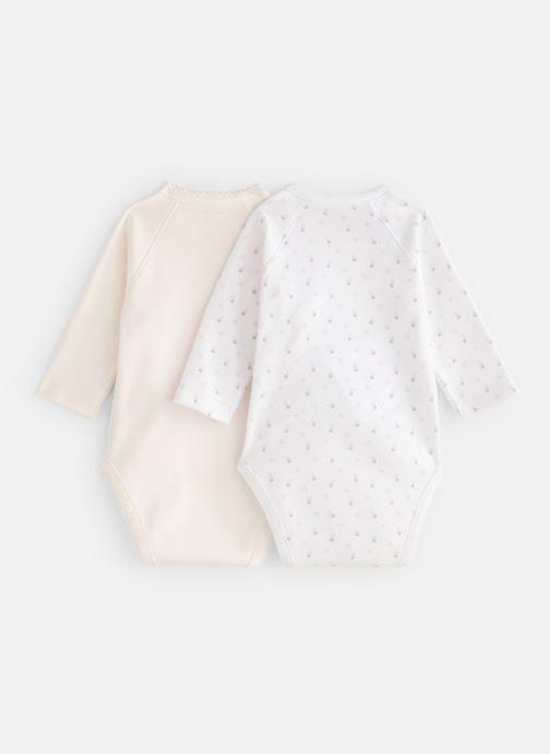 Vêtements Bout'Chou Mini Bout chou X2 Bodies Blanc vue bas / vue portée sac