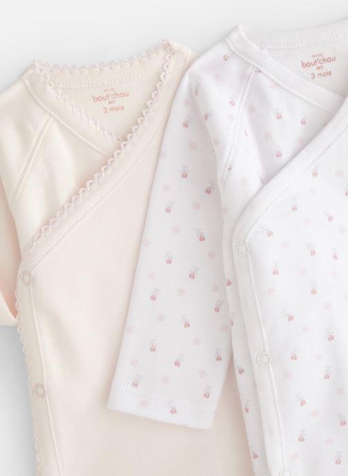 Vêtements Bout'Chou Mini Bout chou X2 Bodies Blanc vue portées chaussures