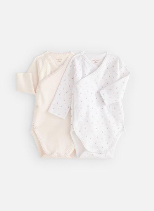 Vêtements Bout'Chou Mini Bout chou X2 Bodies Blanc vue détail/paire