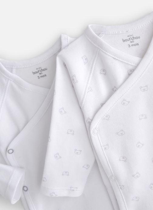 Vêtements Bout'Chou Mini Bout chou X2 Bodies int Blanc vue portées chaussures