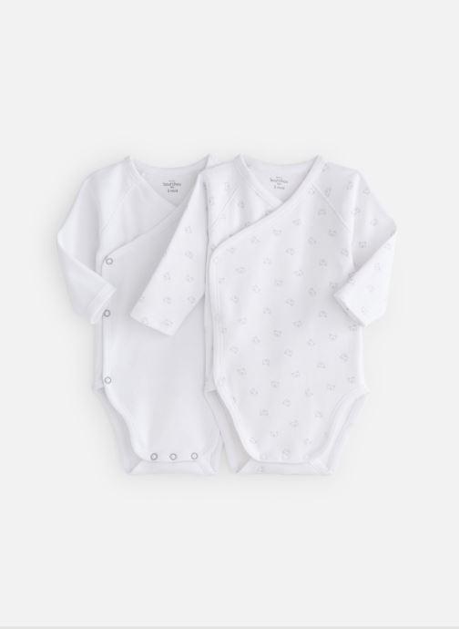 Vêtements Bout'Chou Mini Bout chou X2 Bodies int Blanc vue détail/paire