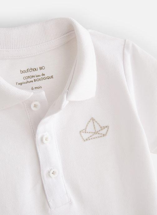 Vêtements Bout'Chou Polo Piqué manches courtes bio Blanc vue portées chaussures