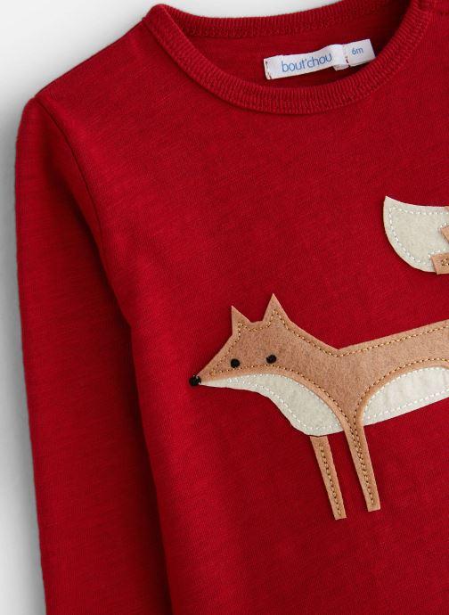 Vêtements Bout'Chou T-shirt patch Renard Rouge vue portées chaussures