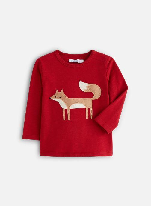 Vêtements Bout'Chou T-shirt patch Renard Rouge vue détail/paire