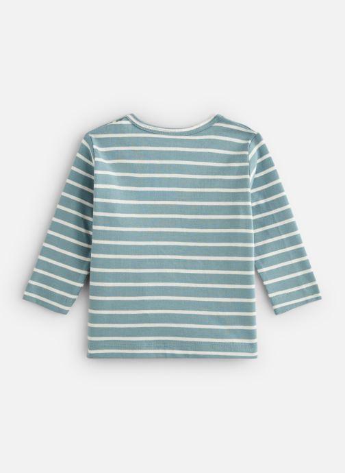 Vêtements Bout'Chou T-shirt manches longues rayé print Bleu vue bas / vue portée sac