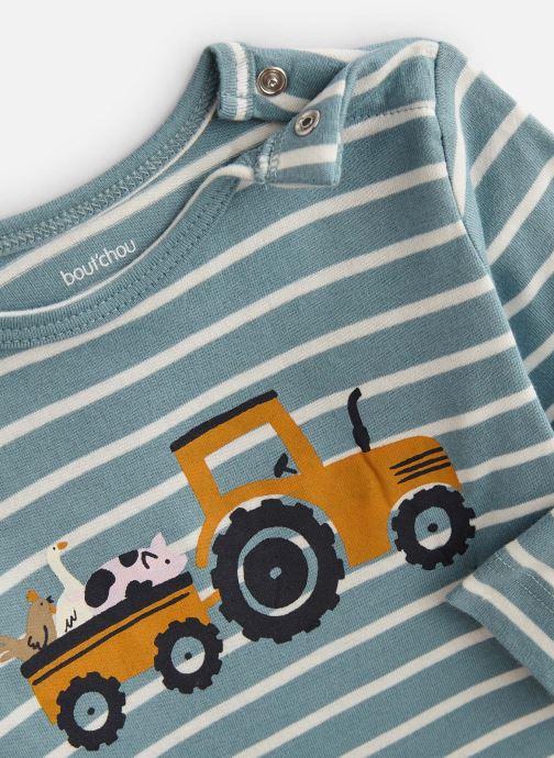 Vêtements Bout'Chou T-shirt manches longues rayé print Bleu vue portées chaussures
