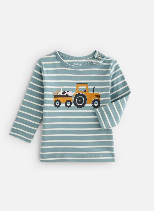 Vêtements Bout'Chou T-shirt manches longues rayé print Bleu vue détail/paire