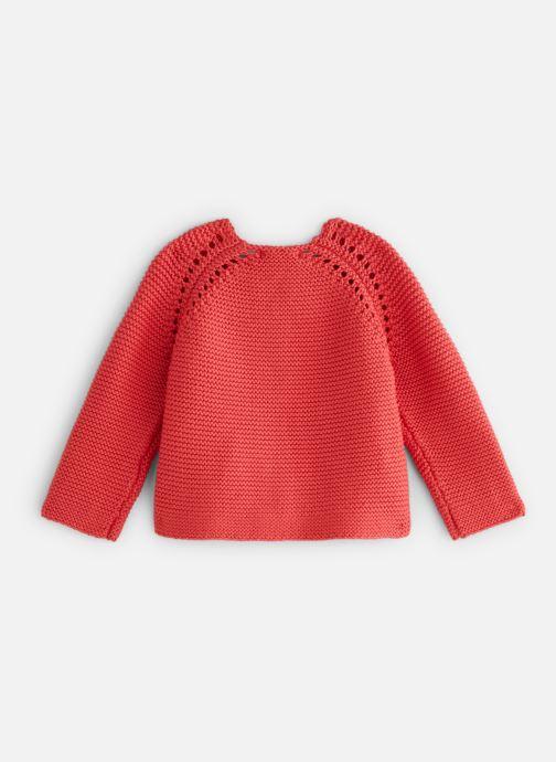 Vêtements Bout'Chou Cardigan mousse bio ESS Orange vue bas / vue portée sac