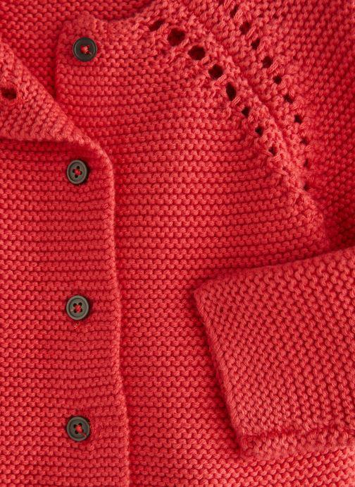 Vêtements Bout'Chou Cardigan mousse bio ESS Orange vue portées chaussures