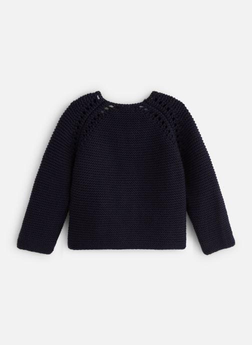 Vêtements Bout'Chou Cardigan mousse bio ESS Bleu vue bas / vue portée sac