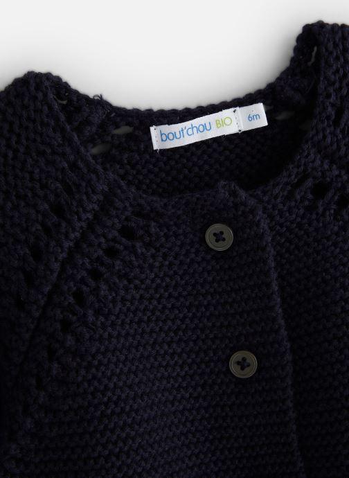 Vêtements Bout'Chou Cardigan mousse bio ESS Bleu vue portées chaussures