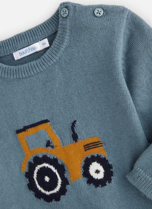 Vêtements Bout'Chou Pull Tracteur Bleu vue portées chaussures