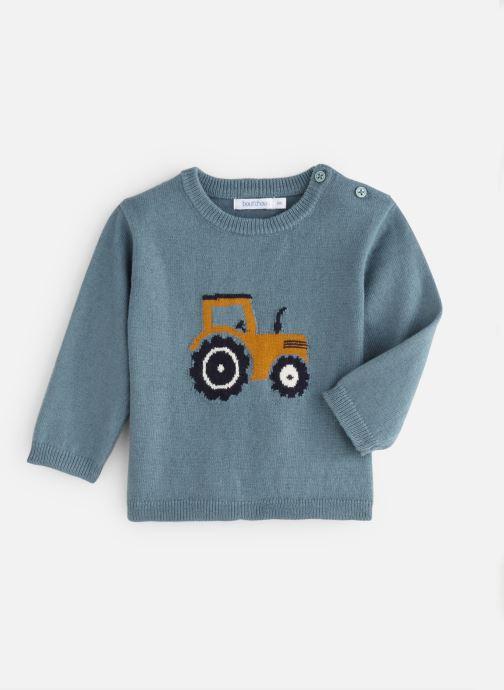 Vêtements Bout'Chou Pull Tracteur Bleu vue détail/paire