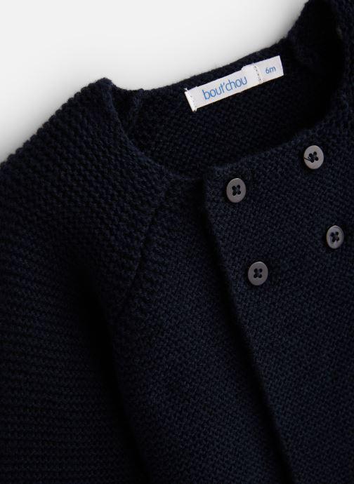 Vêtements Bout'Chou Cardigan pt mousse ESS Bleu vue portées chaussures