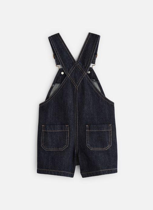 Vêtements Bout'Chou Salopette courte denim Bleu vue bas / vue portée sac