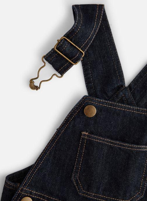 Vêtements Bout'Chou Salopette courte denim Bleu vue portées chaussures
