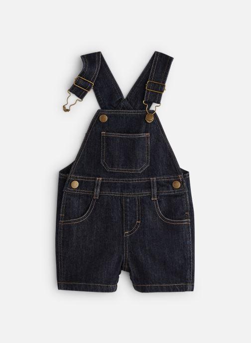Tøj Bout'Chou Salopette courte denim Blå detaljeret billede af skoene