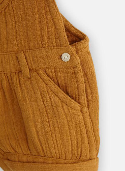 Vêtements Bout'Chou Salopette courte Jaune vue portées chaussures