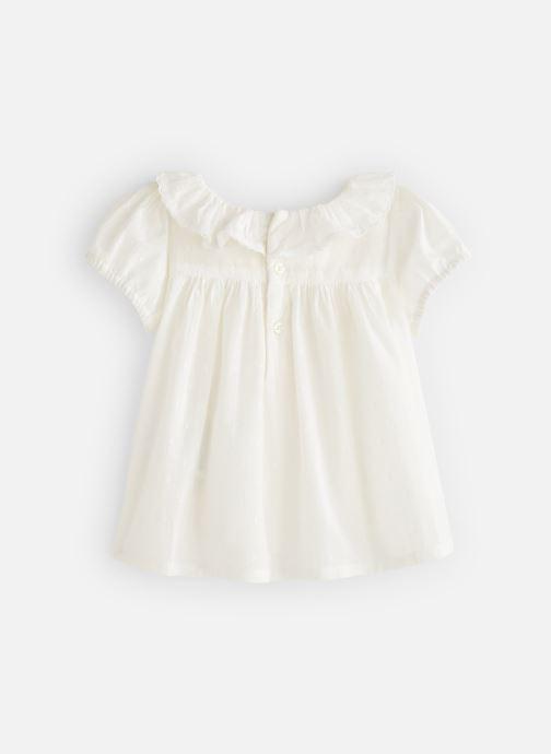 Vêtements Bout'Chou Blouse manches courtes uni Blanc vue bas / vue portée sac