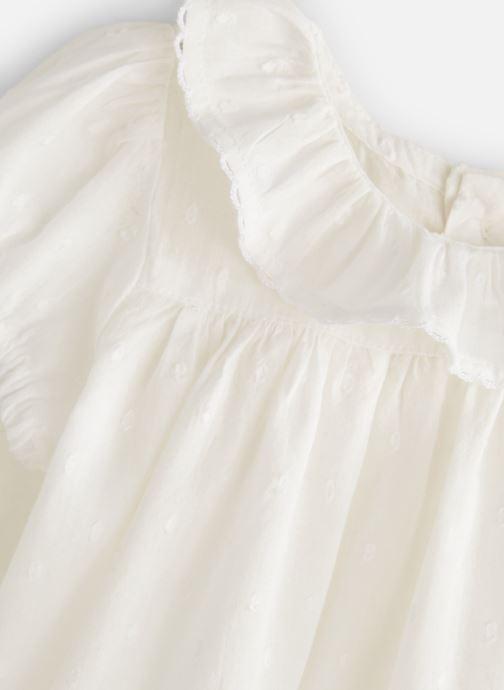 Vêtements Bout'Chou Blouse manches courtes uni Blanc vue portées chaussures