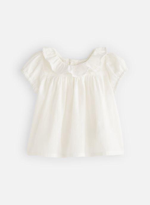 Vêtements Bout'Chou Blouse manches courtes uni Blanc vue détail/paire