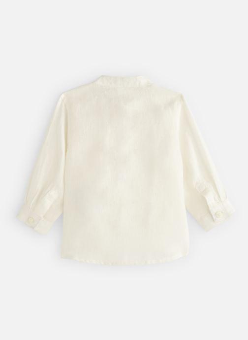 Vêtements Bout'Chou Chemises en lin unie Blanc vue bas / vue portée sac
