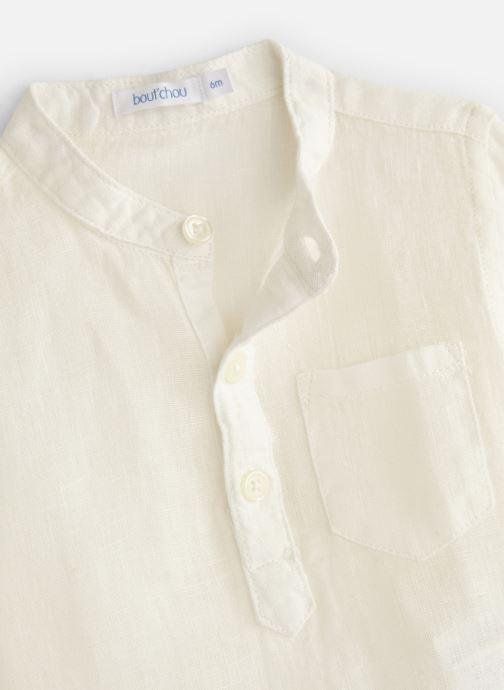 Vêtements Bout'Chou Chemises en lin unie Blanc vue portées chaussures