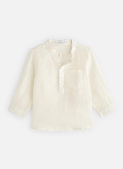 Vêtements Bout'Chou Chemises en lin unie Blanc vue détail/paire